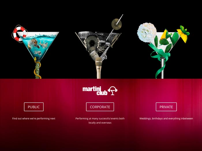 Martini Club website